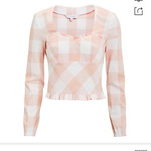 NWT Intermix Pink Checkered Top Size 4